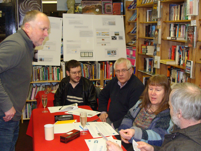 Ellon Academy: River of Words - Bernard Briggs running a public session at Better Read Books, Ellon