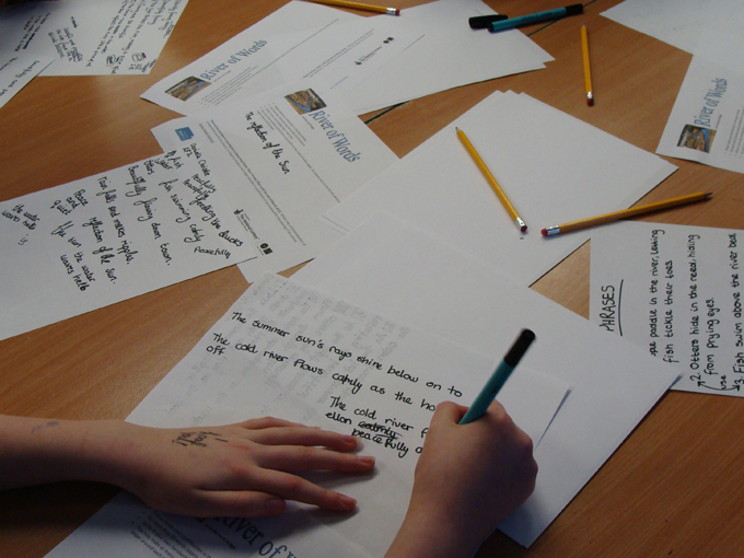 Ellon Academy: River of Words - Pupils' writing session