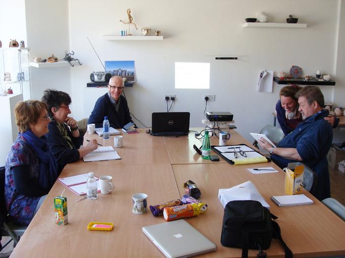 Poetry workshop with Ken Cockburn.